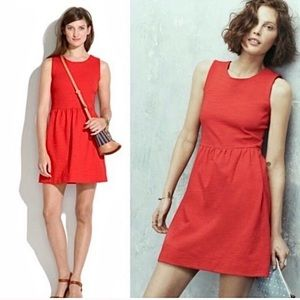 Madewell Red Afternoon Ponte Knit Dress + Pockets